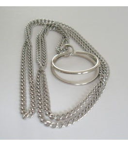 Silver necklace attachment with 2 loops for the Track Your World Marble