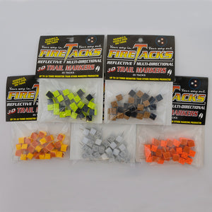 all 5 Fire Tack colour options in packages