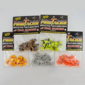 all 5 3D Fire Tack colour options in packages