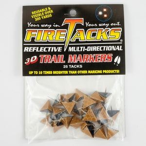 Stealth brown 3D fire tacks in package