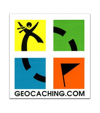 Four Colour Geocaching Sticker