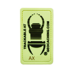 Travel Bug Glow in the Dark Trackable Patch