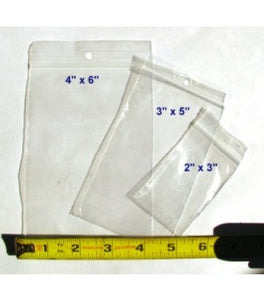 "Large Poly Zip Bag 4"" x 6"" (10 pack)"