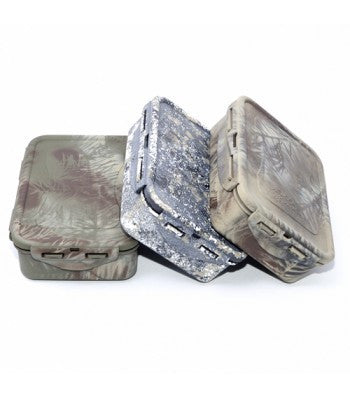 Medium Lock n' Lock containers painted camo, stone and khaki