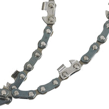 close up of saw chain