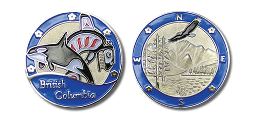 BC in Blue Non-Trackable Coin