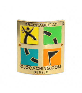 Trackable Hiking Stick Medallion Retro