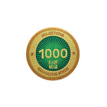 Gold patch with a green background for 1000 finds