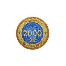 Gold patch with a blue background for 2000 finds