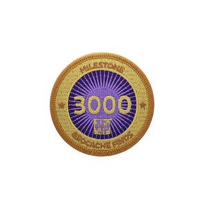 Gold patch with a purple background for 3000 finds