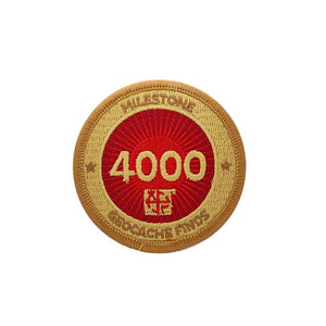 Gold patch with a red background for 4000 finds