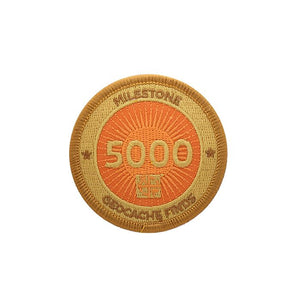 Gold patch with an orange  background for 5000 finds