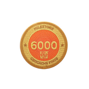 Gold patch with an orange  background for 6000 finds