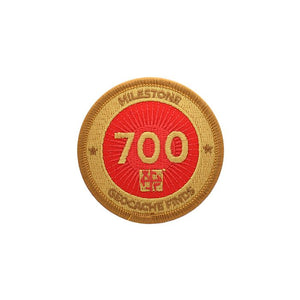 Gold patch with a red background for 700 finds
