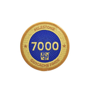 Gold patch with a dark blue background for 7000 finds