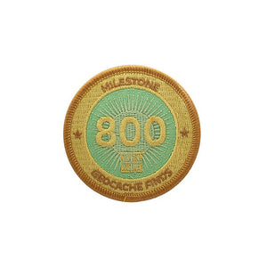 Gold patch with a light green background for 800 finds