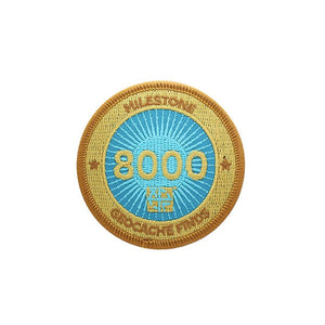 Gold patch with a light blue background for 8000 finds