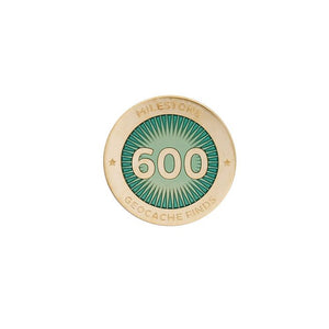 Gold pin for 600 finds in turquoise