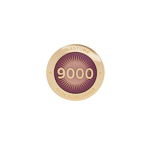 Gold pin for 9000 finds in pink