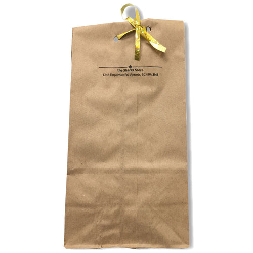 Brown paper bag with