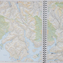 2 pages of book highlighting gulf islands