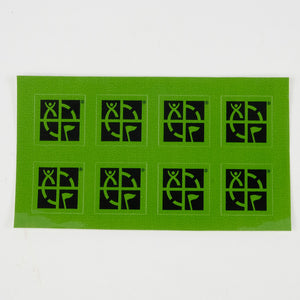 "Green 3/4"" x 3/4"" Mini Sticker 8 Pack"