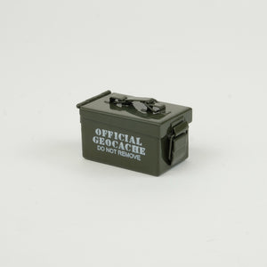 Closed green micro ammo cache