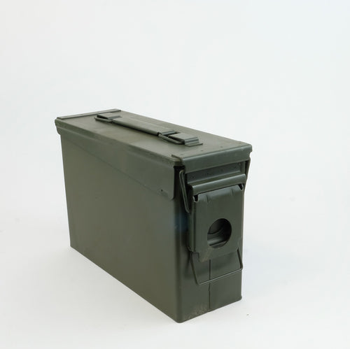 Dark green 30 Cal Ammo Can cache