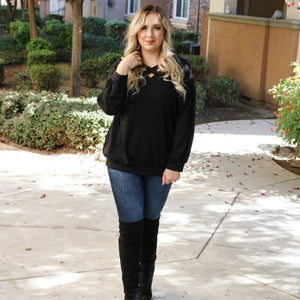 Curvy Blackest Night Sweater - Urban Outlaw Boutique