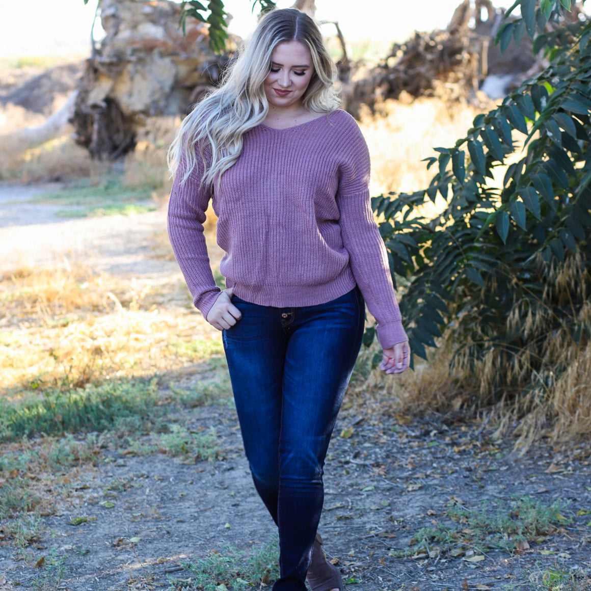 Sweater - Twist My Arm (Mauve)