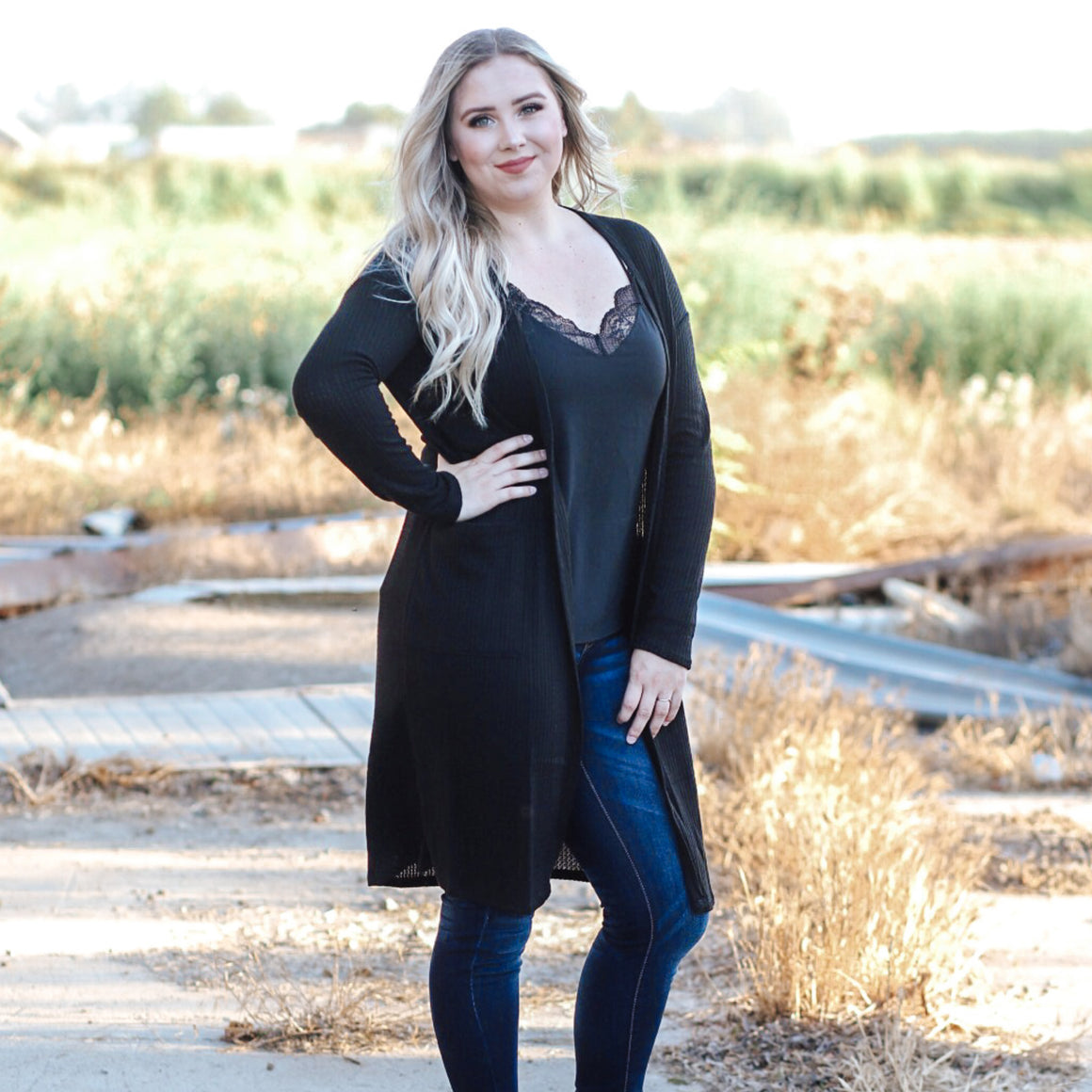 Hooked On You Cardigan (Black) - Urban Outlaw Boutique
