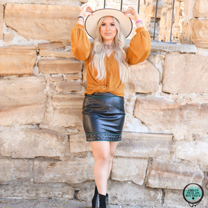 Hot Stuff Faux Leather Skirt - Urban Outlaw Boutique