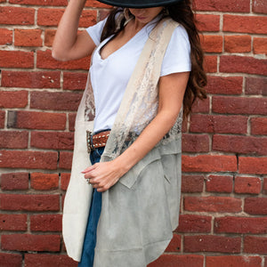 Whisper of Smoke Lace Vest - Urban Outlaw Boutique