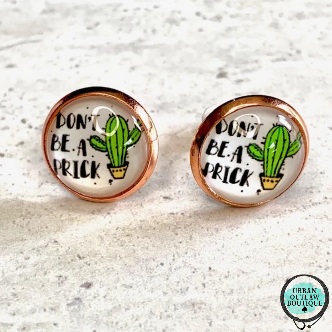 Don't Get Prickly Earrings - Urban Outlaw Boutique