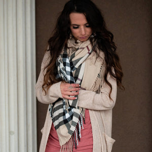 Scarf - Maybe Its Plaid Blanket Scarf