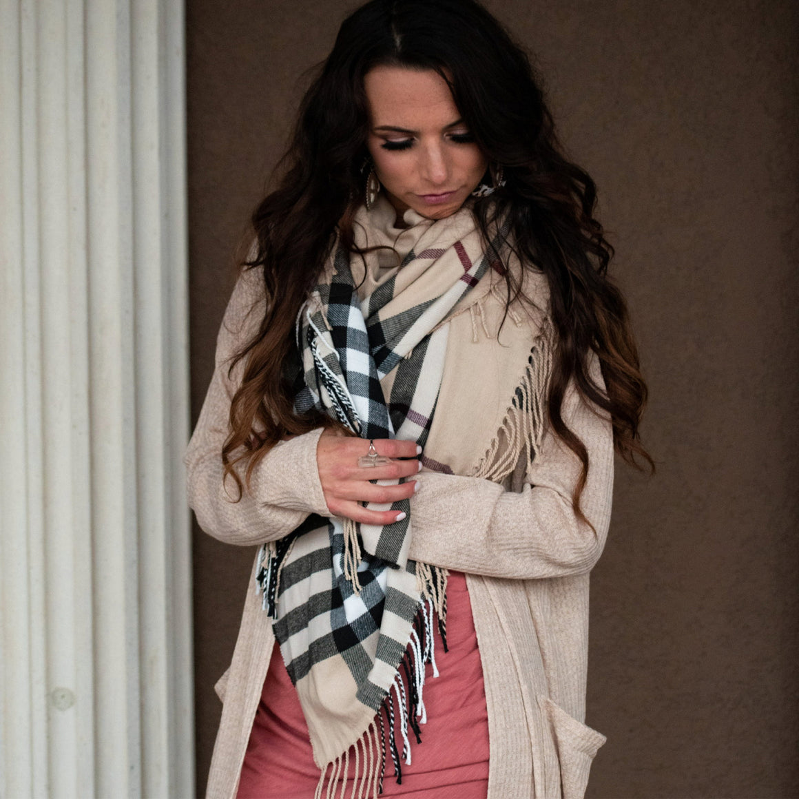Maybe Its Plaid Blanket Scarf - Urban Outlaw Boutique