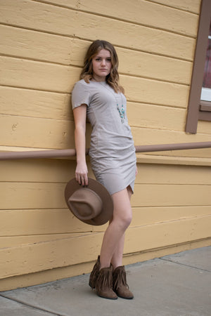Dresses - Not You Average T-shirt Dress (Taupe)