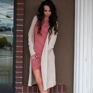 Not Your Average T-shirt Dress (Cinnamon) - Urban Outlaw Boutique