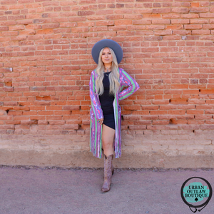 Summer Dreams Serape Duster - Urban Outlaw Boutique
