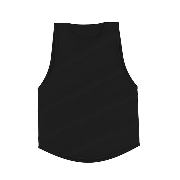 Lifestyle Cutoff Tank - Black