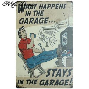Vintage GARAGE RULES Metal Sign Home Party Wall Craft  Painting Garage Decor 20*30 CM AA-771 - Chill Garage