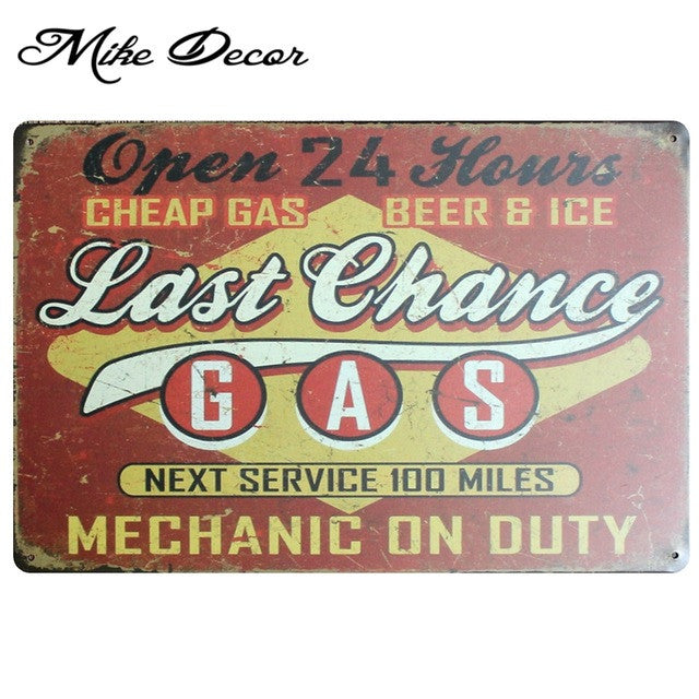 Vintage LAST CHANCE Metal Sign Home Party Wall Craft  Painting Garage Decor 20*30 CM AA-771 - Chill Garage