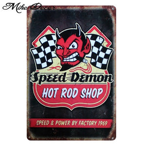 Vintage SPEED DEMON Metal Sign Home Party Wall Craft  Painting Garage Decor 20*30 CM AA-771 - Chill Garage