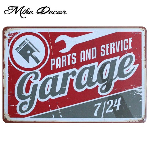 Vintage PARTS AND SERVICE Metal Sign Home Party Wall Craft  Painting Garage Decor 20*30 CM AA-771 - Chill Garage