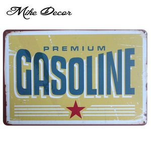 Vintage GASOLINE Metal Sign Home Party Wall Craft  Painting Garage Decor 20*30 CM AA-771 - Chill Garage