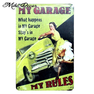 Vintage MY GARAGE Metal Sign Home Party Wall Craft  Painting Garage Decor 20*30 CM AA-771 - Chill Garage