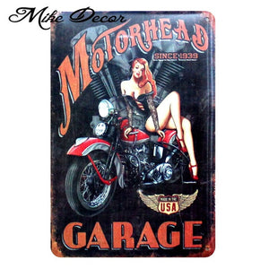 Vintage MOTORHEAD Metal Sign Home Party Wall Craft  Painting Garage Decor 20*30 CM AA-771 - Chill Garage