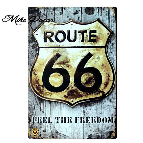 Vintage ROUTE 66 Metal Sign Home Party Wall Craft  Painting Garage Decor 20*30 CM AA-771 - Chill Garage
