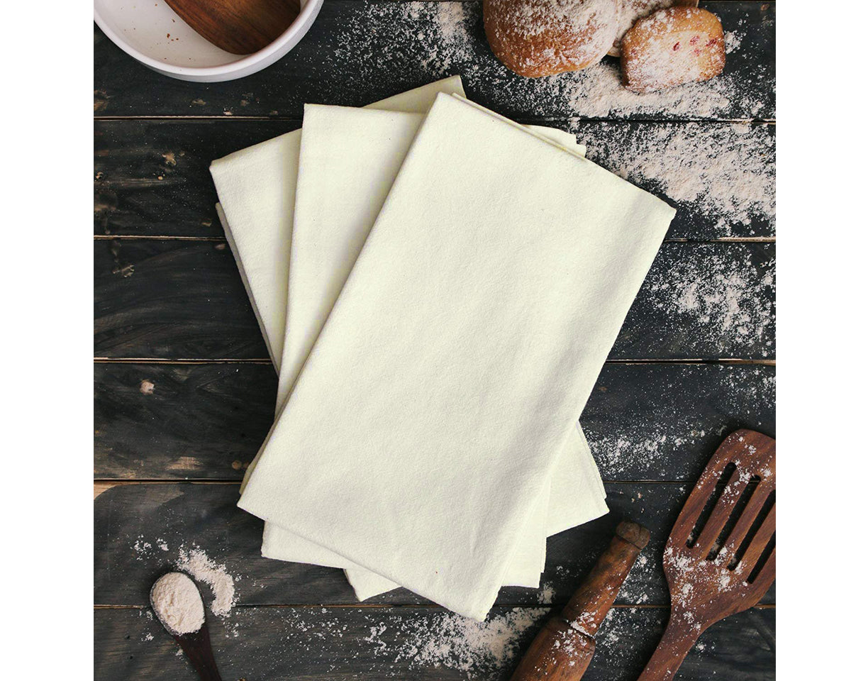Flour Sack Towels, Set of 12, 100 % Cotton , Highly