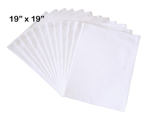 "Flour Sack Napkins, 19""x19"", 100% Cotton, Set of 12"